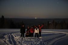 Фото на фоне НЛО