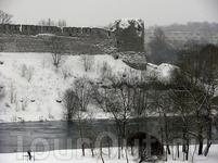 Вид на Ивангород.
