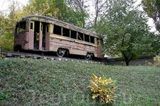 Памятник старому трамваю.