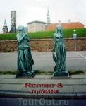 Памятник Ромео и Джульетте возле замка