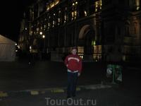 Отель де Виль ночью