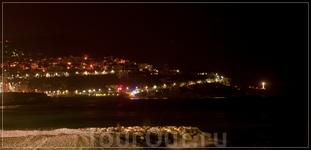 ночная Ницца,Английская набережная (Promenade des Anglais) ,бухта Ангелов