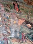 Фрагмент храмовой росписи - сцена набатного зона в Угличе.