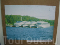 Стоянка пассажирских судов у острова Валаам.