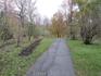 Одна из многочисленных дорожек парка. Вдоль - клумбы лилейника.