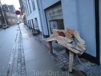 Оригинальная скамейка.