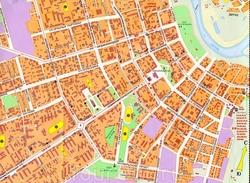 Карта центра Сыктывкара