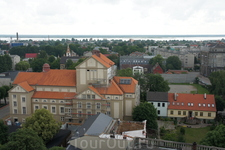 Вид на город с колокольни собора Св. Троицы