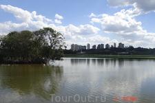 Куритиба. Парк Бариги. Очень большой по площади парк с озерами и лужайками, среди которых проложены велосипедные и беговые дорожки