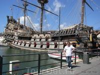 Генуя. Галеон «Neptune», копия испанского военного корабля 16-го в.