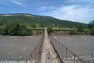 Подвесной мост через реку Белая в районе Даховской