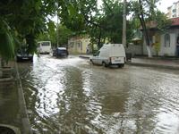 Дождь в Судаке 1. Центральная улица Ленина.