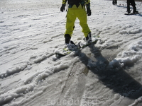 Здесь всегда много сноубордистов
