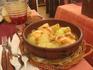 Фирменное блюдо в Тоссе - Cim i Tomba. Это рыба с картофелем под очень вкусным соусом, запеченная в духовке