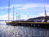 Все причалы находятся возле Ратуши,там причаливают туристические (и не только)кораблики.