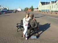 На набережной в обнимку с писателем Кр.Валдемарсом.