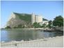 Вид на мыс Чиракман (бетонная постройка - это старое зернохранилище)