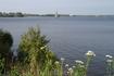 Вид с берега на колокольню.