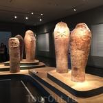 Мумии в Музее Израиля.  Площадь музейного кампуса составляет 81000 квадратных метров.