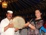 Приобщилась к восточной музыке путем игры на бендире - такой марокканский бубен.