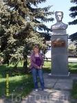 Памятник учителю-партизану, зверки замученному фашистскими оккупантами.