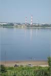 Волга. Вид на Заволжский моторный завод, что напротив Городца