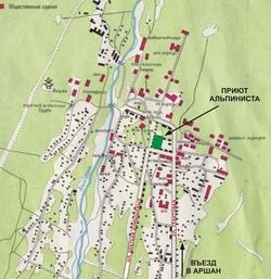 Карта Аршана с улицами