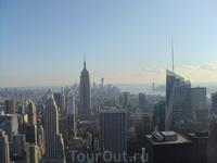 Нью-Йорк со смотровой площадки Рокфеллер плазы
