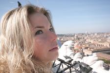 Ангел на фоне вечности.... Вид с террасы Дворца Венеции, архитектор Бернардо Росселино.