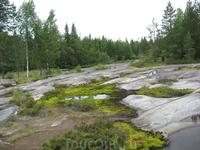 Малая Залавруга - местечко, где находится серия петроглифов Беломорья