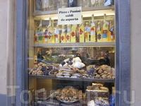 Флоренция,витрина кондитерской