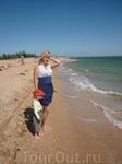 На городском пляже в Аршинцево купаться мы не стали - ветренно, да и экологичность под вопросом (сами в порту работаем.....)
