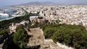 Malaga, видна город с крепости Gibralfaro