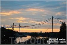 Доехали до границы — Ивангород. Такой красивый закат !