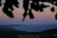 Закат над Эгейским морем. Стоило забраться в горы, хотя бы ради этого!