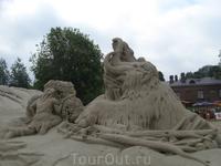 Песчаные фигуры. Лето 2010