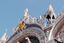 Центральный фронтон базилики Сан Марко.