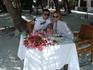 Фотка под названием-Жизнь удалась)))))Первый семейный завтрак на берегу!!!