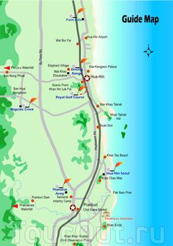 Туристическая карта Хау Хина
