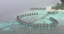 типичный мальдивский отель с воздуха