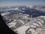 Вид из самолета на Москву.