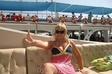 На палубе яхты,отправляемся в круиз по Средиземному морю