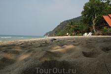 пляж, песок
