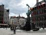 Антверпен. Фонтан Брабо на площади Гроте-Маркт.