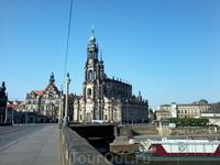 Вид с Королевского моста. Идем пешком из Нойштадта в Альтштадт