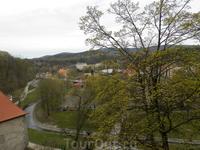 Вид на город рядом с замком