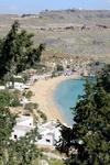 Один из пляжей Линдоса, с него красивый вид открывается...