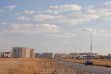 въезд в город с северо-запада