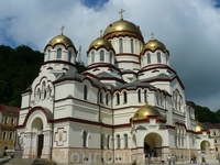 Ново-Афонский монастырь.Храм Пантелеймона -целителя