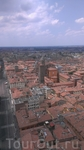 Болонья. Вид с башни на ее бесконечные арки и крыши